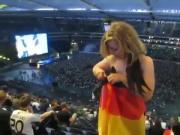 Nude girl on Stadium