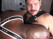 Blown chubby barebacks muscular black bloke