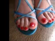 Sexy Feet In Blue Sandals
