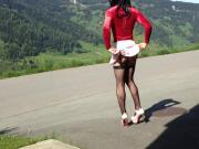 Sissy teen slut in the mountains !