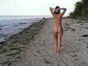 Walking the beach naked