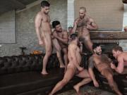 Sex-Party - Six men have fun