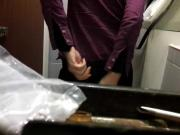 Sexy girl changing always pad in toilet pt.2