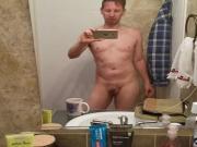 Naked Horny Mirror Selfie