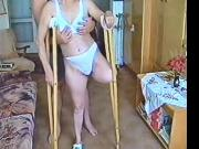 Mary wooden crutches