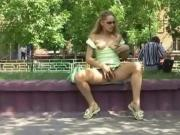 Compilation pretty girls showing off outside in public
