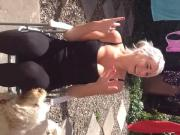 My landlord Molly Davies UK smelly see thru leggings wet