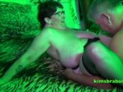 John takes a big tits swinger in the green room