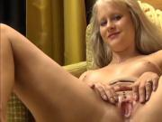 Busty Blonde with Big Clit Gets Nice Creampie
