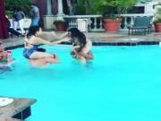 Chicken fight in pool