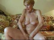 Olga Is 74 And Loves To Finger Her Bald Pussy