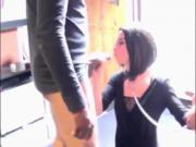 French crossdresser blowbang