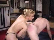 Mistress Fisting her male slave Assplay Fist Strapon