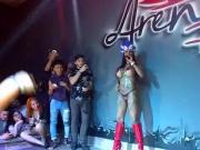 Ines Brazil masturbates on the stage