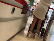Hot Milf in a see through white dress VTL