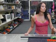 Amateur pawnshop babe bentover and fucked