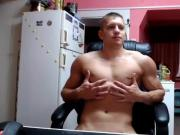 Handsome Muscle Boy Cums On Cam,Huge Deep Asshole Wow