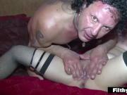 Squrting and Double Penetration! Nasty italian milf!