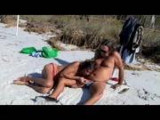 Michelle TS Sucks Jamie at the Beach!