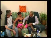 Anais gets punished in a gangbang