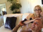 POV fuck session with Elsa Jean & Derrick Pierce