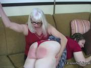 Dana Paddles Those Girls! Spanking