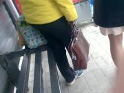 Cum in bus stop 7