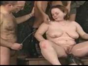 Horny piss action with beautiful BBW girl.