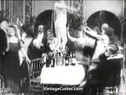 Lady gets Drunk at Her Birthday's Party 1910s Vintage