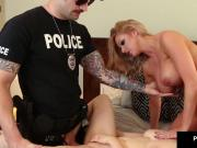 Penny Pax & Brooklyn Chase Get Busted, Fucked & Cummed On!