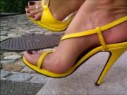 Bare Feet In Open High Heels 10
