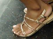 Candid mature ebony feet
