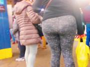 Bbw Milf Booty in Grey Leggings