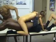 2 amateur secretaries in office orgy