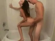 Sex And Blowjob Under The Shower