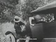 Mustached Boy Fucks 2 Young Petite Girls 1910s Vintage