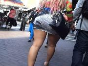 miniskirt in downtown