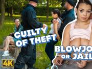 LAW4k. Sweet babe gets arrested for stealing in the park but
