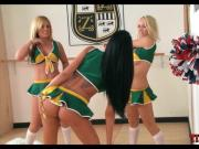 Cheerleaders in the locker room