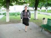 ONE LEGGED WOMAN