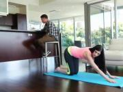 yoga stepsister gets punished for taunting her bro