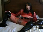 Red bodystocking teaser video