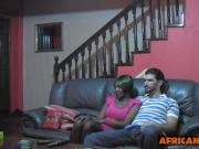 Cute black teen getting naughty caressing white cock suitor