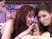 Slutty Redhead Lauren Phillips & Charlee Chase Blowjob Tag T