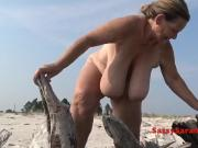 Old granny with saggy floppy tits