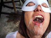 Morgan Piss Drinking and Cum Swallowing Outside