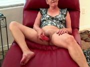 Mature vixen Anita tries a dildo for the 1st time