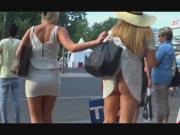 Girl reveal friends ass in thong