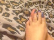 Feet Get A Cum Bath