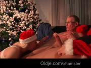 Teen horny girls want old dick threesome fuck for Christmas
